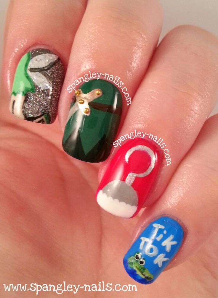 Spangley Nails | UK Nail Art Blog: Disney Week: {4 Nails, 1 Movie} Day 1 - Peter Pan https://www.facebook.com/shorthaircutstyles/posts/1760242960932810