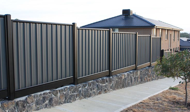 colourbond fence ideas - Google Search