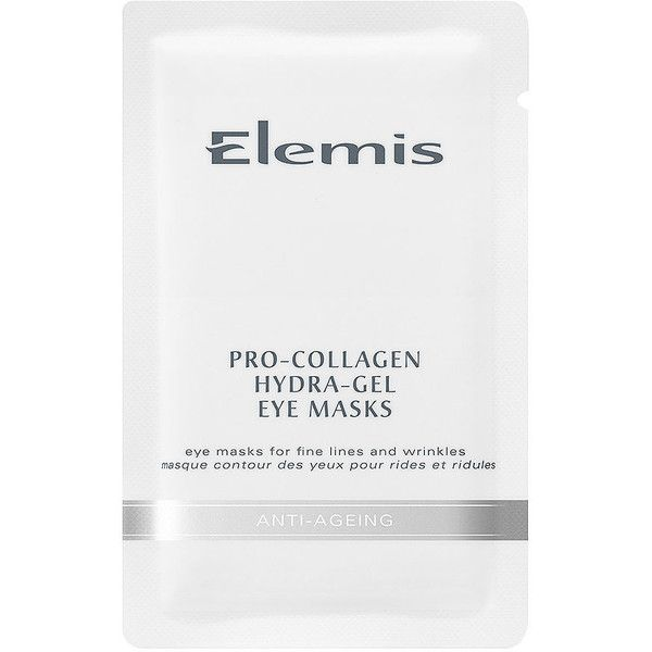 Elemis Pro-Collagen Hydra-Gel Eye Masks 6 ea ($76) ❤ liked on Polyvore featuring beauty products, skincare, eye care, fillers, beauty, cosmetics, fillers - white, & - fillers - beauty, elemis skincare and elemis