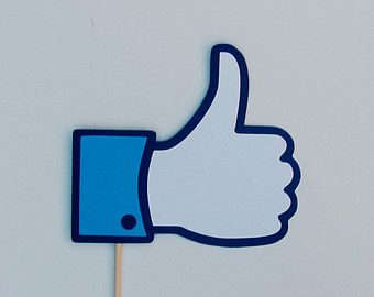 """Facebook """"Like"""" Sign Photo Booth Prop"""