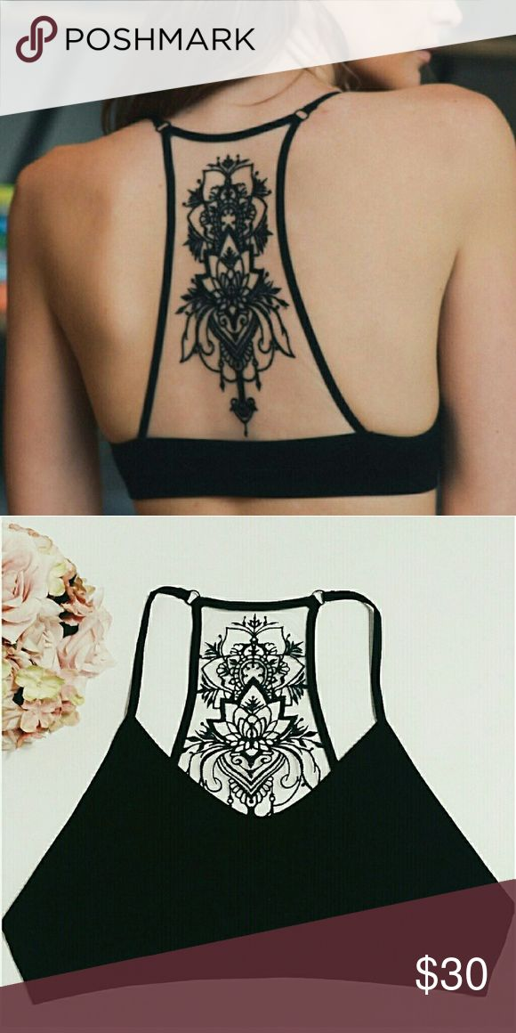 New Tattoo Bralette Brand new embroidered tattoo bralettes.  I have sizes XS/S and M/L.  If you have any questions please let me know.  Thanks!     Tags: bra bras strapless sports underwear lace strappy top shirt croptop top Tops