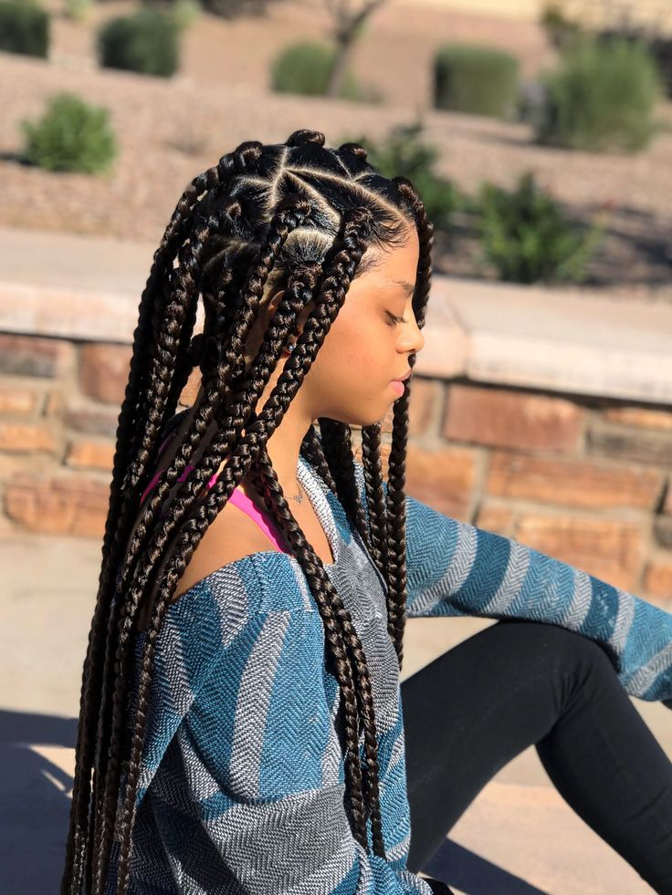 10 Stand-Out Ways to Part Your Box Braids | Box braids