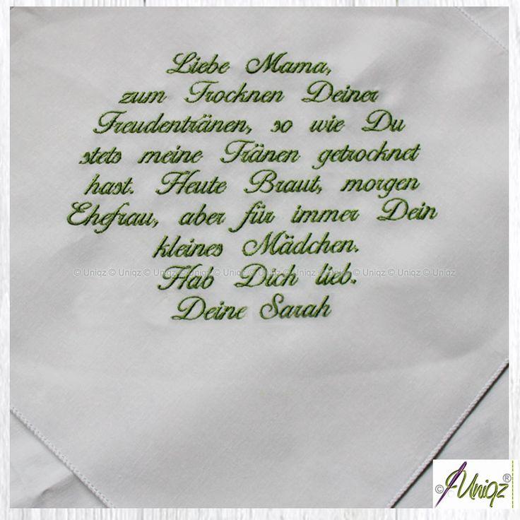 Hochzeit Freudentränen-Taschentuch für Mama |