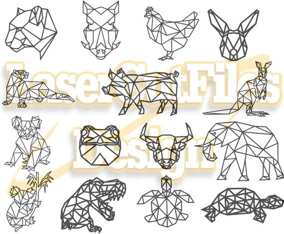 Download Geometric Animals 15 New Svg Polygonal Print Svg Dxf Files Dxf Files For Laser Files Cnc Svg File For Cricut Clipart In 2021 Geometric Animals Geometric Cat Geometric Fox