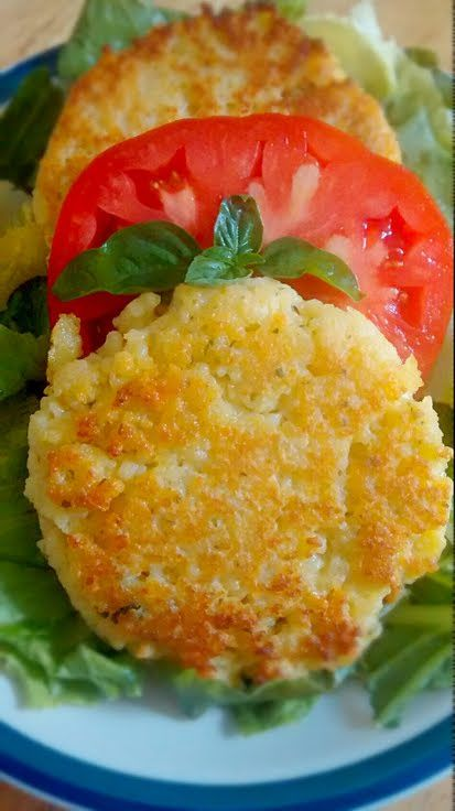 "Couscous Cakes! ""These versatile cakes can be used as a side or as a nice vegetarian entree!"" @allthecooks #recipe"