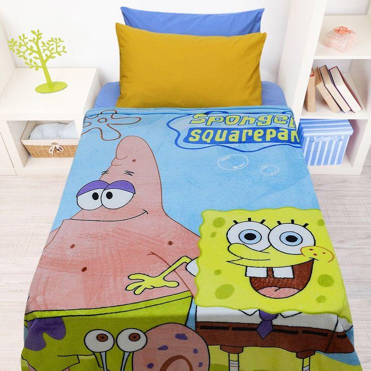 Κουβέρτα Παιδική Coral Fleece Bob Yellow