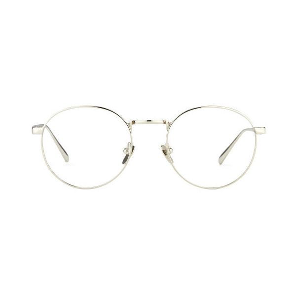 Linda Farrow Oval Optical Glasses ($640) ❤ liked on Polyvore featuring accessories, eyewear, eyeglasses, glasses, sunglasses, jewelry, white gold, linda farrow glasses, oval eyeglasses and oval glasses