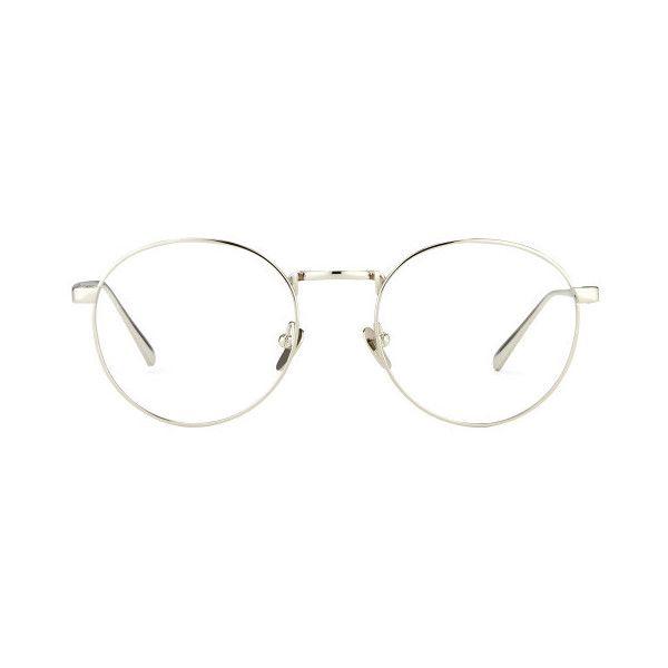 Linda Farrow Oval Optical Glasses ($640) ❤ liked on Polyvore featuring accessories, eyewear, eyeglasses, glasses, sunglasses, jewelry, white gold, linda farrow glasses, oval eyeglasses and oval glasses