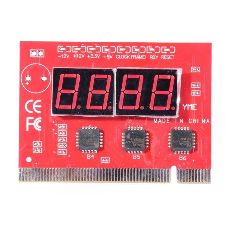 Tarjeta de diagnóstico de 4 Dígitos Motherboard POSTE Tester PCI ISA Para PC Ordenador de Pantalla LCD de La Venta Caliente