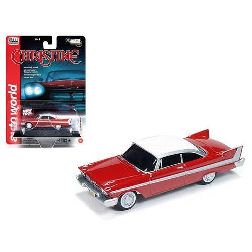 "1958 Plymouth Fury ""Christine"" 1/64 Diecast Car Model by Autoworld"