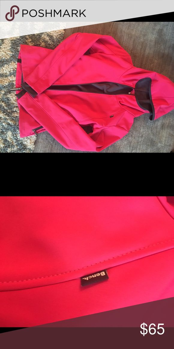 Pink Bench jacket LIKE NEW Super cute and comfortable pink Bench. Jacket! Moisture wicking, has a spandex lining with thumb holes, no sign or wear at all!! Runs a little smaller than size! Bench Jackets & Coats Utility Jackets