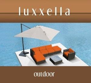 Luxxella Gazebo 7 pcs Outdoor Patio Wicker Furniture Sofa Set ORANGE
