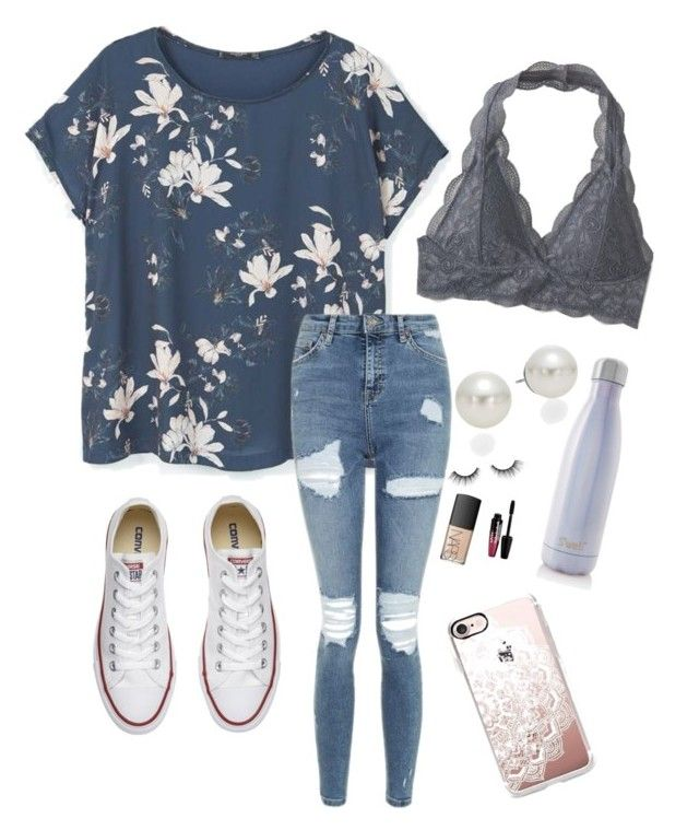 """""""I'm so Bored..."""" by rkidd1716 on Polyvore featuring Converse, MANGO, Topshop, Aéropostale, AK Anne Klein, Casetify, tarte, NARS Cosmetics, Charlotte Russe and S'well"""