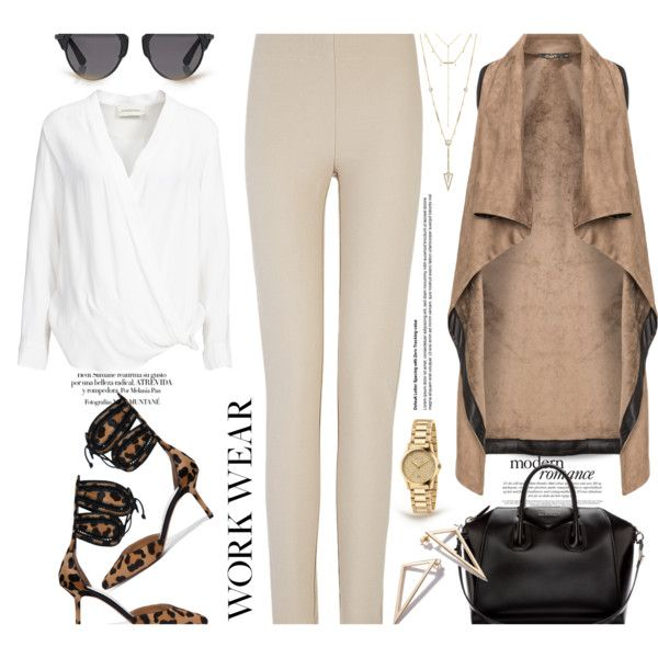 How To Wear Work Wear Leggings... Outfit Idea 2017 - Fashion Trends Ready To Wear For Plus Size, Curvy Women Over 20, 30, 40, 50