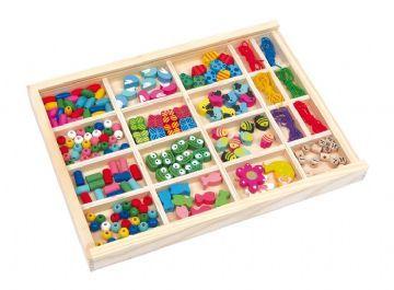 Vivian träpärlor för tillverkning av egna smycken - Gör Det Själv 002465 Shop - Eurotoys - Leksaker online