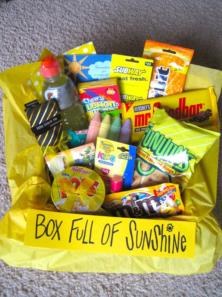 160 best gifts on a budget images on pinterest diy presents summertime box full of sunshine package sunshine boxmissionary care packagesboyfriend gift ideassister giftsgift basketsdiy solutioingenieria Images