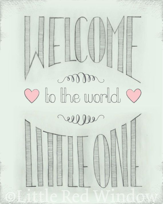 Welcome to the World Printable--8x10--INSTANT DOWNLOAD on Etsy, $10.00