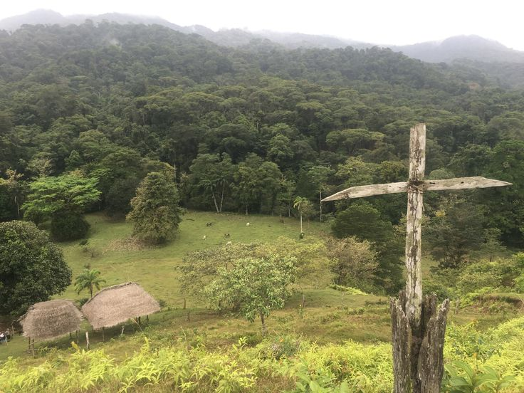 atholic Cross oriented towards Cerro Brujo on the border between Chagres National Park and Portobelo National Park, Colon