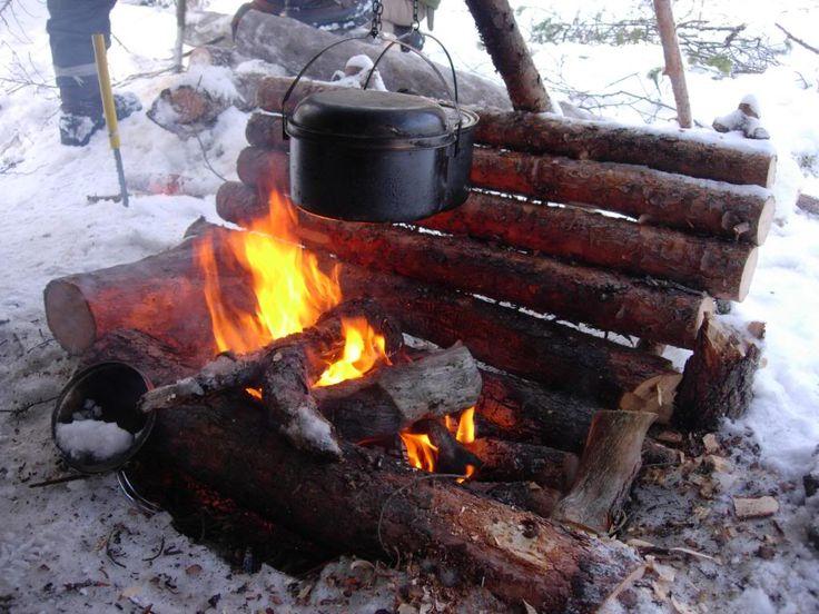 bushcraft fireplace | Trip report; advanced arctic survival course. - Hammock Forums ...