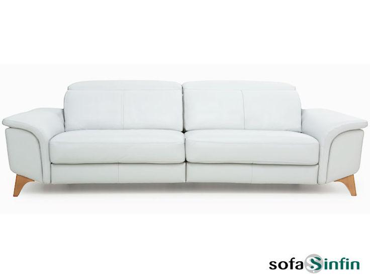 Sofá moderno de 3 y 2 plazas y con chaise-longue, modelo Tiara fabricado por Losbu en Sofassinfin.es