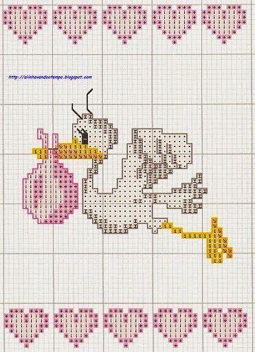 1 5 όμορφα σχέδια με πελαργούς για κέντημα σταυροβελονιά Ιδανικά για κεντητά δώρα για νεογέννητα 1 5 lovely stork cross stitch patt...