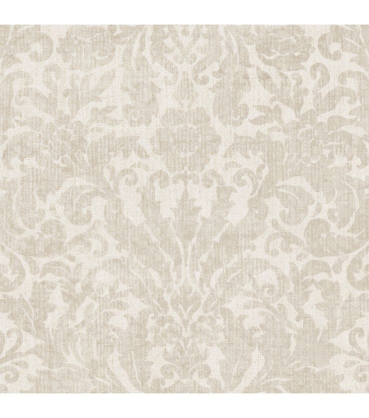 Twill Cream Damask Wallpaper Kitchens Dining Rooms