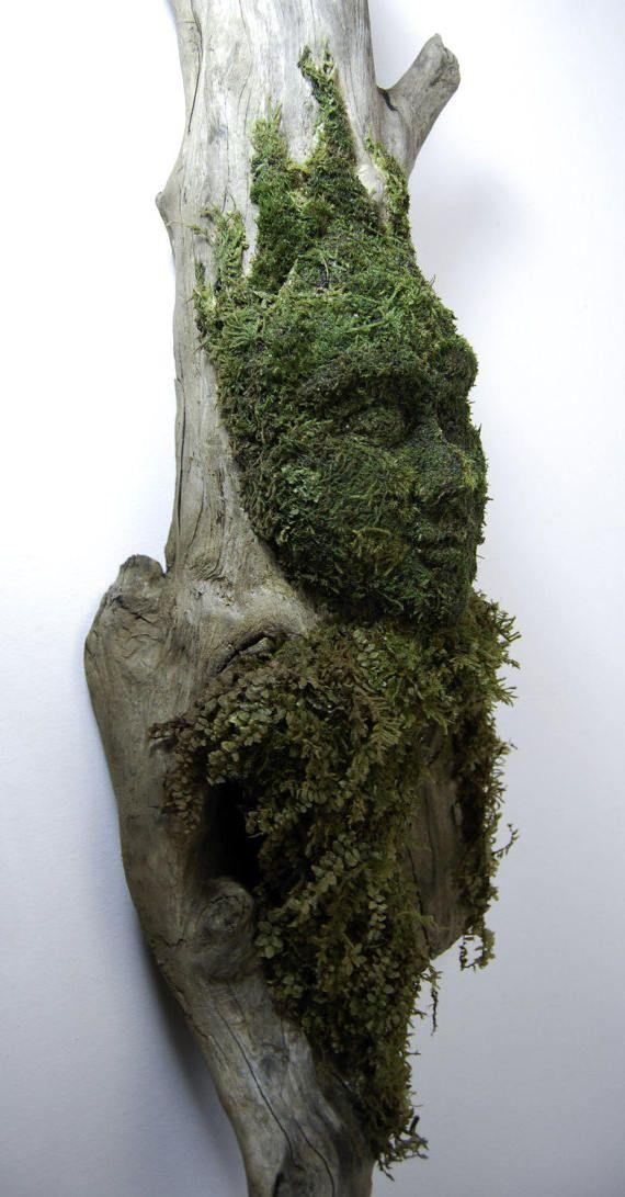 Moss art moss sculpture wall art moss wall art by WildAboutYou