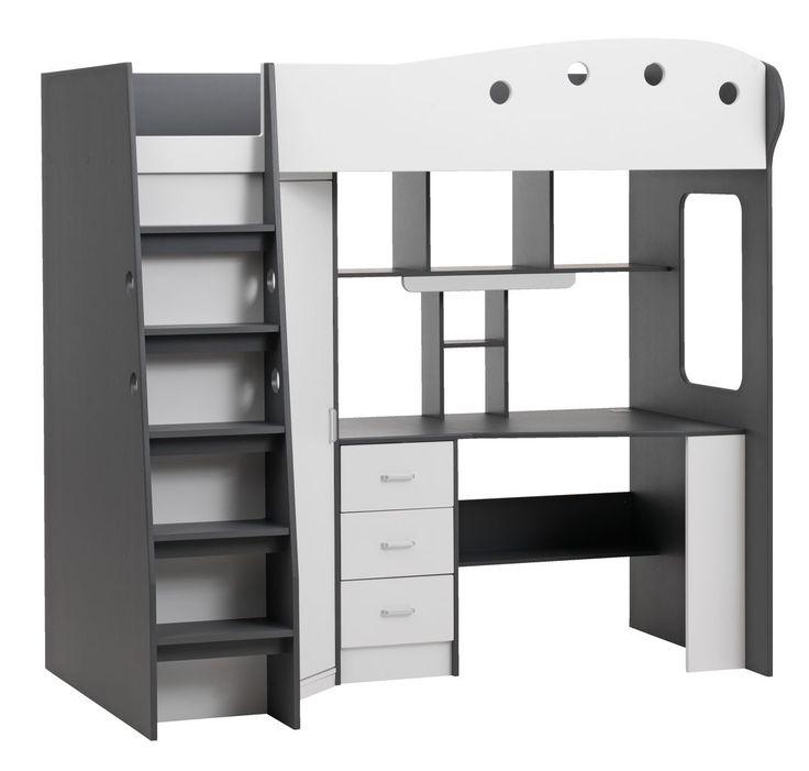 Multi emeletes ágy TAVLUND fehér/szürke | JYSK