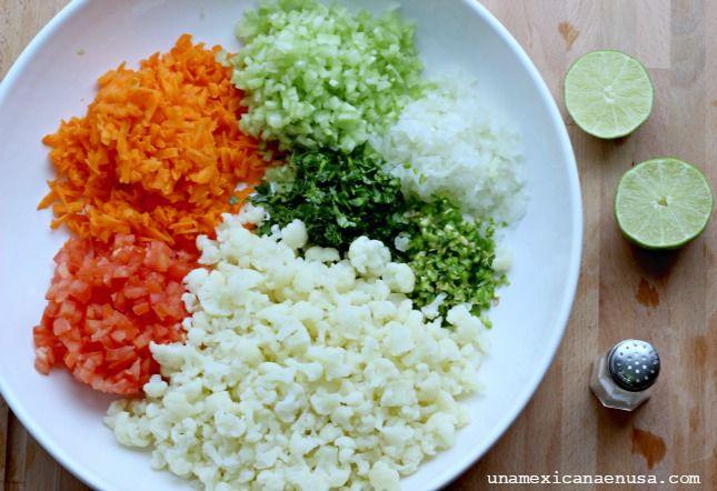 Cómo preparar Ceviche de coliflor