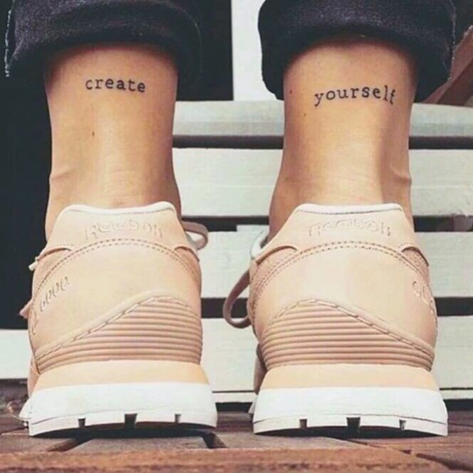 Create yourself #lacolecionadora #createyourself #create #beautifultattoo #smalltattoos #smalltatto #tattoos #tatuagem #littletattoo #tattoedgirl #instapic #tattooedgirls #tattoo #girl #follow #instagood #instatattoos #tinytattoo #tattooed #ink #inktattoo #inspiration #instatattoo #lovetattoo #ideias #colecionadoratattoos #inkspiration #inked
