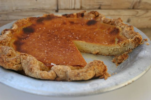 Nothing in the House: Maple Bourbon Buttermilk Pie with Apple Syrup
