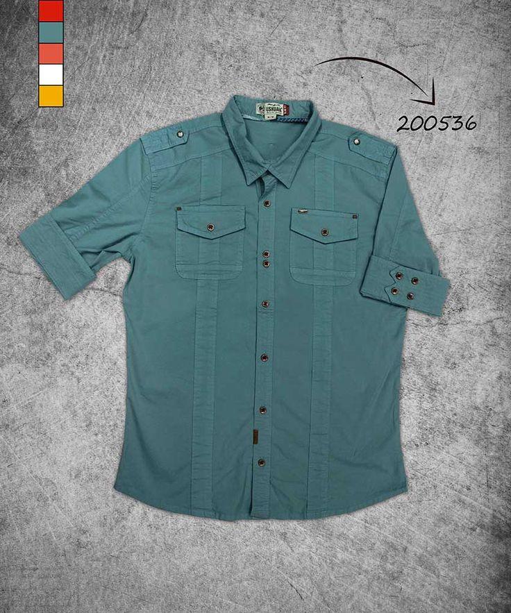 camisa-hombre-manga-tres-cuartos-color-verde-shirt-three-quarter-green-color-200536