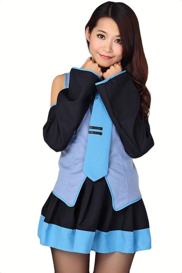 Blue Cartoon K-On Cosplay Sexy School Girl Halloween Sexy Costume #2014 #Cute #Halloween #Costumes #Fashion #Women #Diy #Homemade Creative #Cheap #Sexy Halloween Costumes For Teens. pinkqueen.com