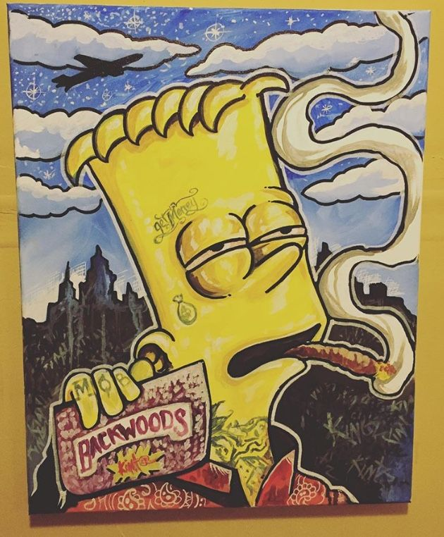 Backwoods Tatted Up Bart Art Bart Tatting