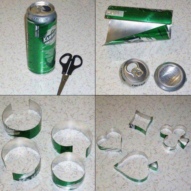 moldes de galletas con latas muy ingenioso