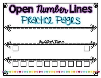 I've always had a hard time finding open number line practice for my kiddos to…
