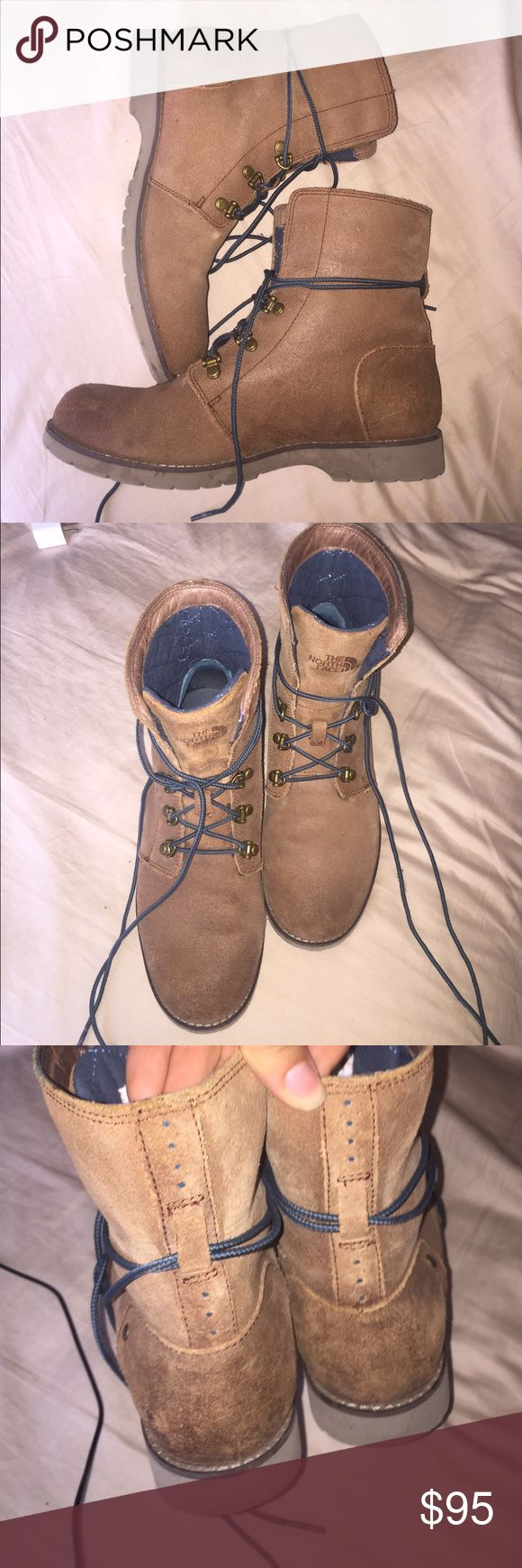North face neutral boots - fairly new! Comfortable and very functional in multiple scenes! Only worn two times in outside The North Face Shoes Lace Up Boots