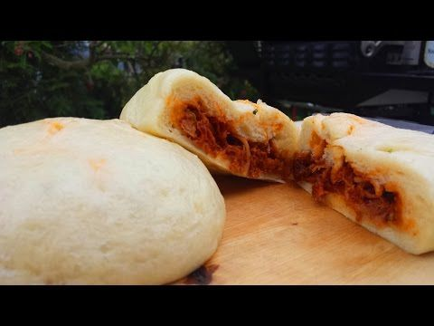 Pulled Pork gefüllte Hom Bao - YouTube