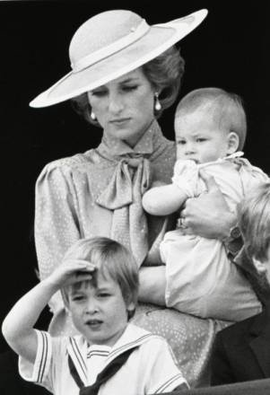 Princess Diana, so much grace, with her sons ... the Princes & future heir to the throne.