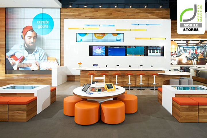 Open format seating?  MOBILE STORES! AT&T flagship store, Chicago – Illinois