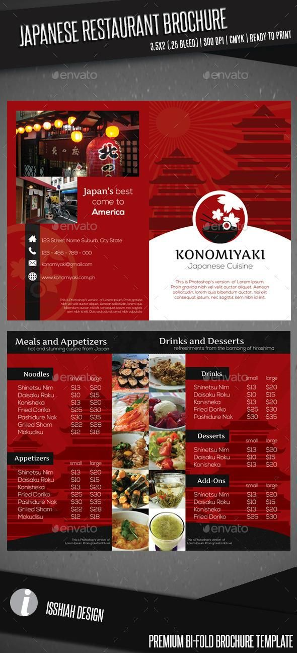 Best  Restaurant Brochure Ideas Only On   Plantilla
