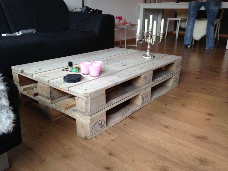 20 beste idee n over pallet salontafels op pinterest verf houten tafels schuur houten tafels - Wat op een salontafel ...
