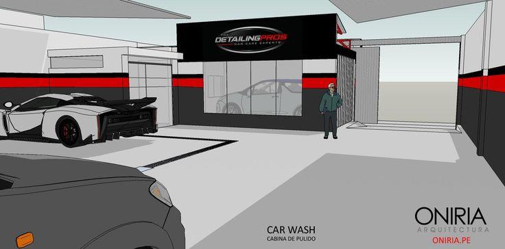 Nuevo proyecto de remodelacion y acondicionamiento de taller de lavado de autos para The Detailing Pros Perú que incluyen diseño de color...