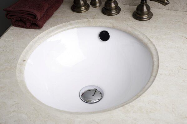 American Imaginations Ceramic Circular Undermount Bathroom Sink With Overflow Sink Undermount Sink Undermount Bathroom Sink