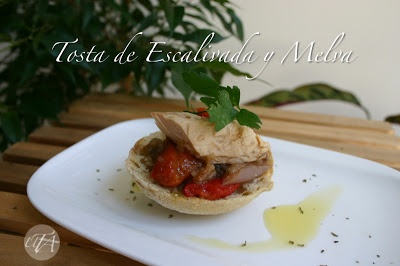 Spanish tapa: catalonian escalivada with melva