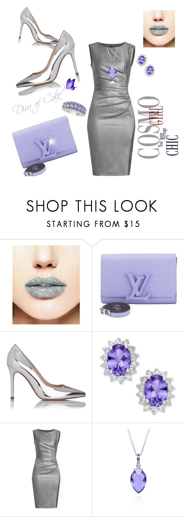 Silver and chic lavender by Diva of Cake featuring mode, MaxMara, L.K.Bennett, Louis Vuitton, Belk & Co. and Forever 21