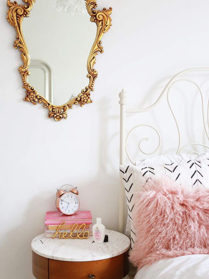 pink and white and a touch of gold