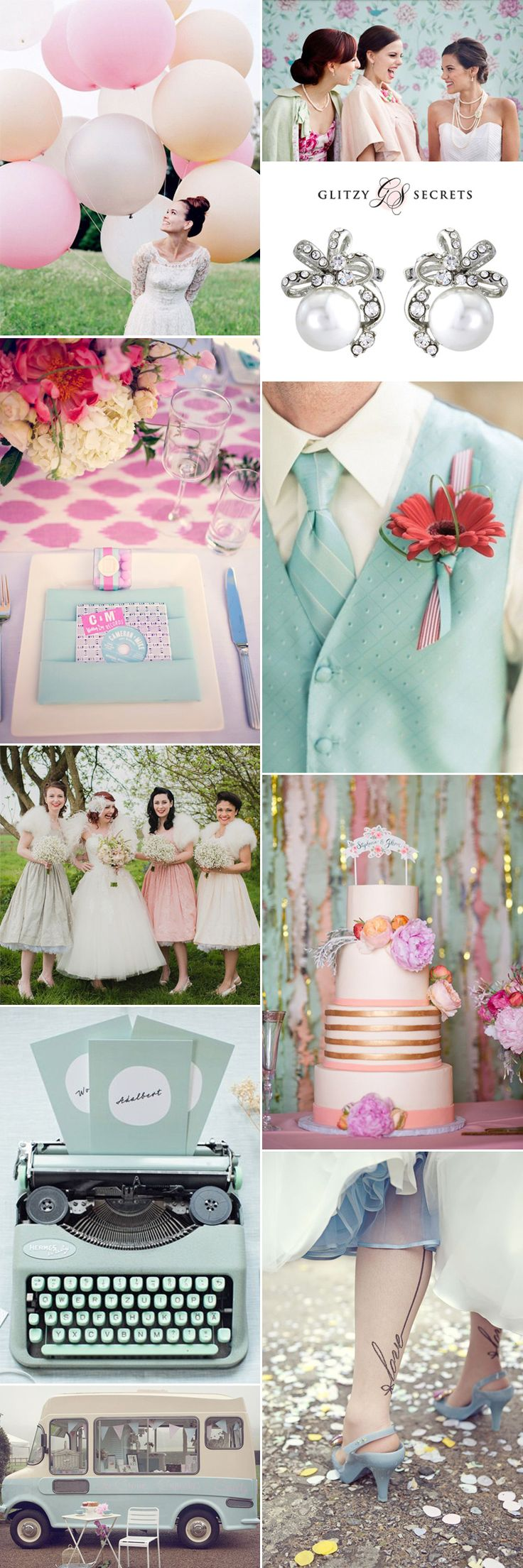 Fabulous 1950s style ideas for a retro wedding theme!  via Glitzy Secrets