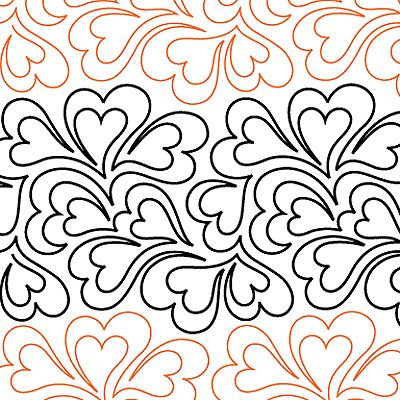 "Whole Lotta Love - Paper - 11.75"" - Quilts Complete - Continuous Line Quilting Patterns"