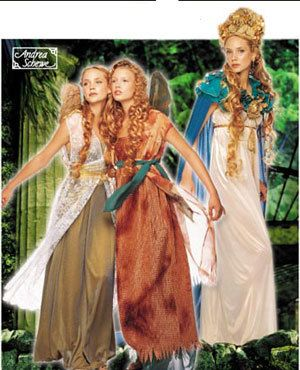 FAIRY & WINGS Costume Sewing Pattern - RENAISSANCE Gothic Costume
